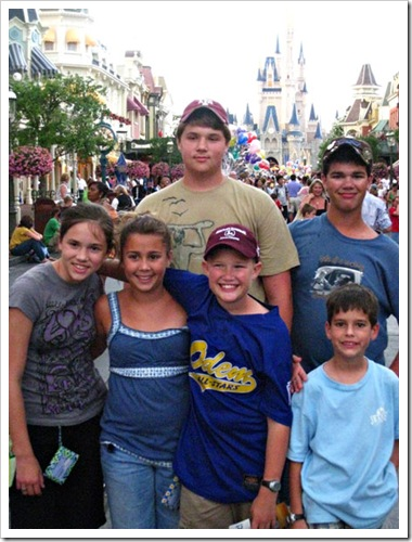 Cousins at the Magic Kingdom