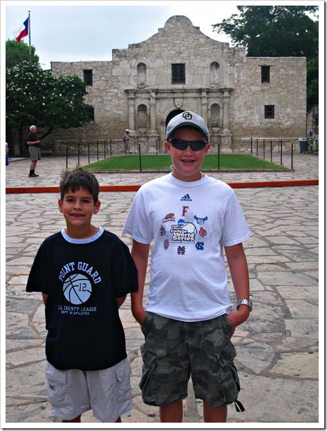 Jack and Payne at the Alamo