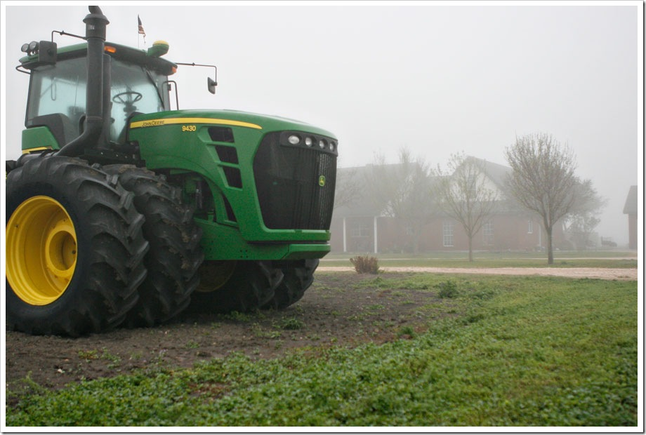 John Deere 9430 at our house