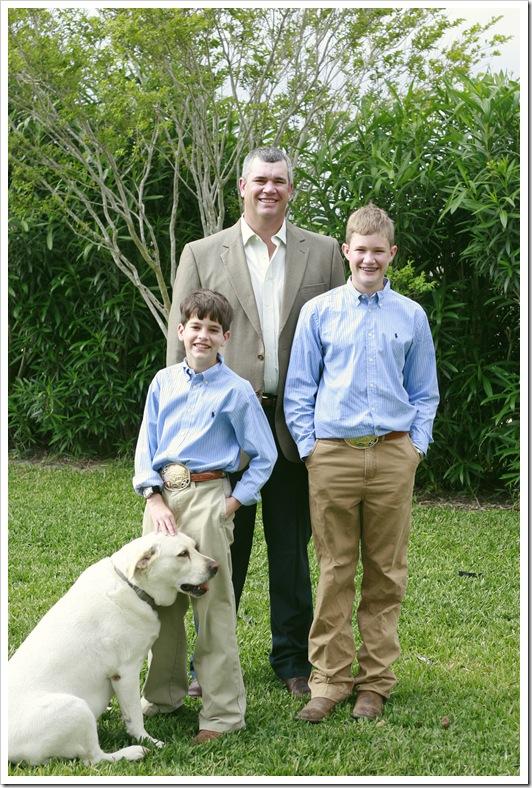 The boys on Easter Sunday