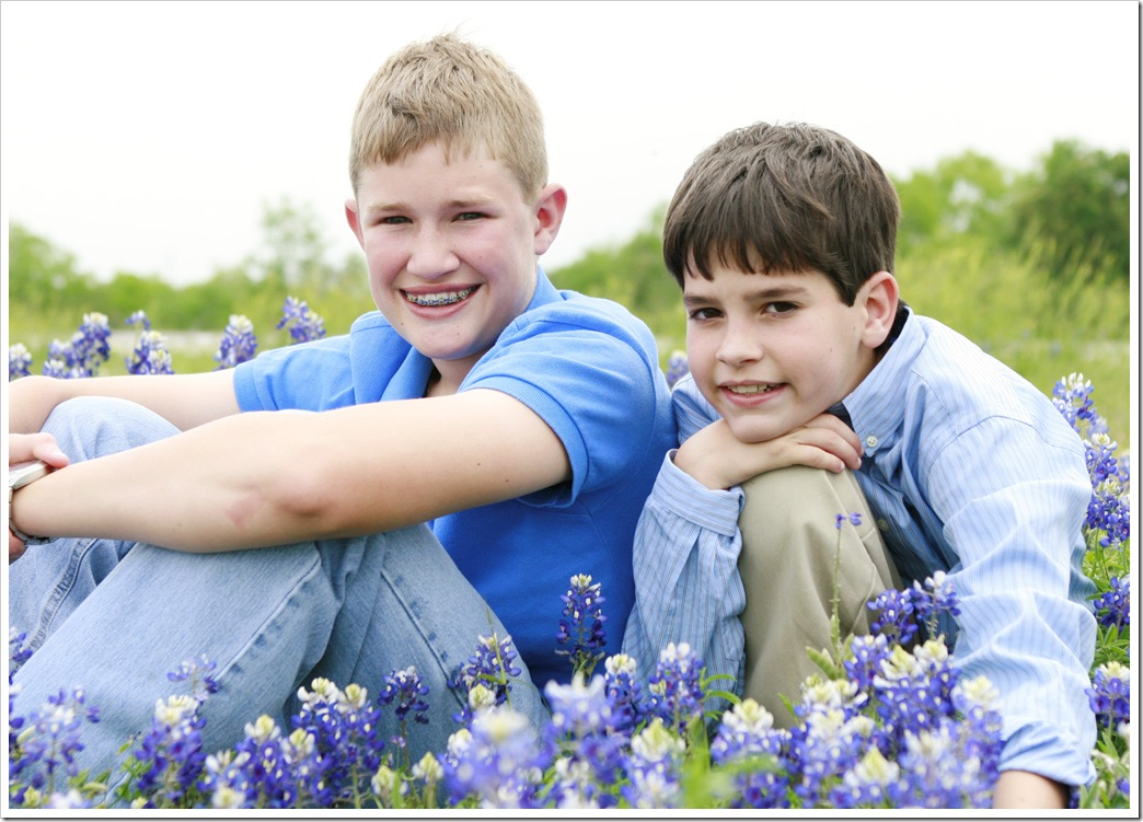 Texas Bluebonnets Brothers