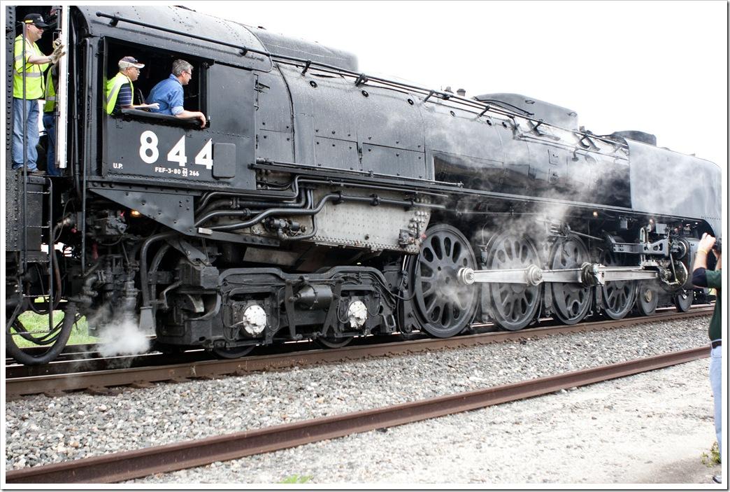 steam engine runs past Odem, TX