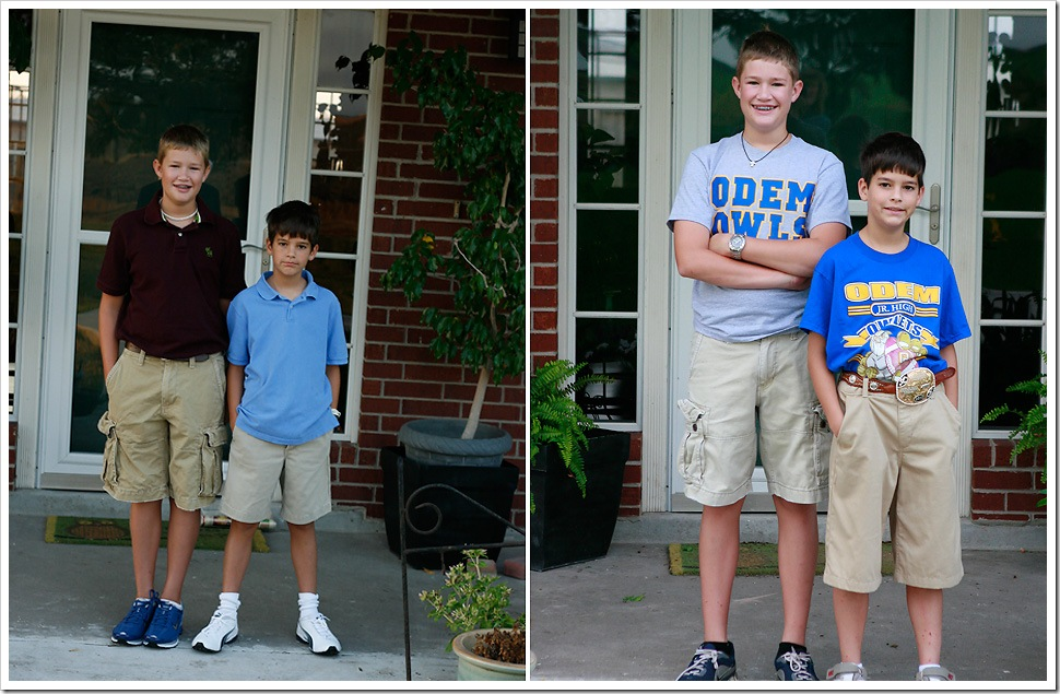 The start of school | The end of school