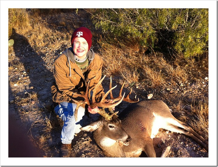 White-tail record-book deer shot in Webb County, TX 2010